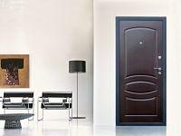 Входная металлическая дверь Форпост. Модель Бастион-1. Вид в экстерьере